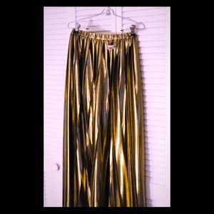 Metallic Gold Wide leg culottes